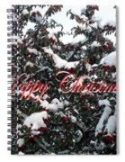 Happy Christmas 12 Spiral Notebook