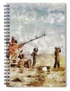 Bofors, Desert War, Wwii Spiral Notebook