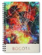 Bogota Colombia Watercolor City Street Map Spiral Notebook