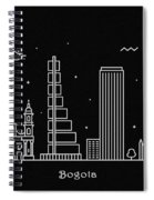 Bogota Skyline Travel Poster Spiral Notebook