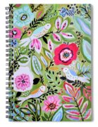 Bohemian Bird Garden Spiral Notebook