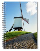 Bonne Chiere Windmill Bruges Belgium Spiral Notebook