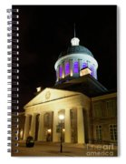 Bonsecours Market At Night In Old Montreal Spiral Notebook