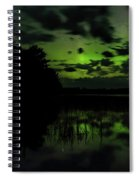 Boot Lake Green And Purple Northern Lights  Spiral Notebook