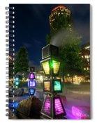 Boston Colored Steam Lights Boston Ma Rose Kennedy Greenway Steamy Spiral Notebook
