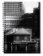 Boston Fort Point Channel Contrast Spiral Notebook