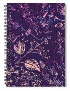 Botanical Branching Spiral Notebook