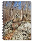 Boulders Along The Trail Spiral Notebook