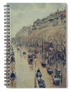 Boulevard Montmartre - Afternoon, In The Rain, 1897 Spiral Notebook