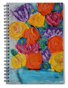 Bouquet In Blue Spiral Notebook