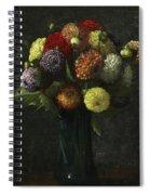 Bouquet Of Dahlias Spiral Notebook