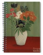 Bouquet Of Flowers With China Asters And Tokyos, 1910 Spiral Notebook