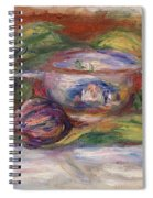 Bowl, Figs, And Apples, 1916 Spiral Notebook