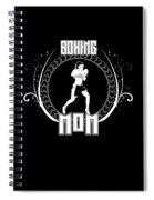Boxing Mom Combat Sport Martial Arts Training Spiral Notebook
