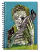 Boy Holding A Bird Spiral Notebook