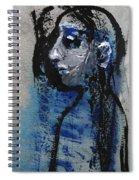 Boy In Blue Spiral Notebook