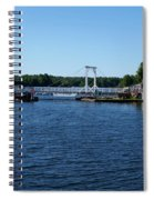 Brass Point Bridge On The Rideau Canal Ontario Spiral Notebook