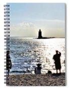 Breakwater East End Beach Scene Spiral Notebook