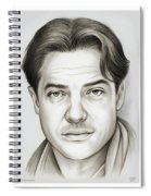 Brendan Fraser Spiral Notebook