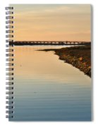 Bridge And Ria At Sunset In Quinta Do Lago Spiral Notebook