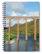bridge over river Tweed near Melrose towards Gattonside Spiral Notebook