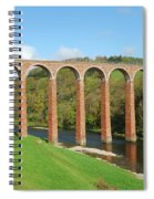 bridge over river Tweed near Melrose Spiral Notebook