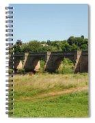 bridge over river Tyne at Corbridge in summer Spiral Notebook