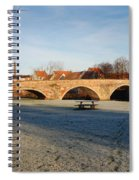 bridge over river Tyne in Haddington in winter Spiral Notebook