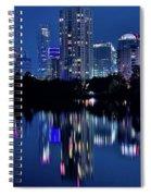Bright Blue Hour In Austin Spiral Notebook