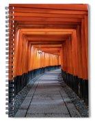 Bright Orange Torii Gates In Kyoto, Japan Spiral Notebook
