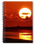 Bright Rota, Spain Sunset Spiral Notebook