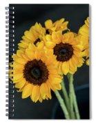 Bright Yellow Sunflowers Spiral Notebook