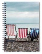 Brighton Beach Chairs Spiral Notebook