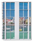 Brilliant Bermuda Cityscape Windows Spiral Notebook
