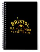 Bristol Sign And The Moon Spiral Notebook