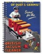 British Vacuum Cleaner Vintage Advert 1910 Spiral Notebook