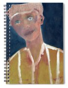 Brown Hat Man Spiral Notebook