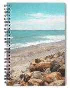 Bruce Bay New Zealand Painterly Spiral Notebook