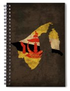 Brunei Country Flag Map Spiral Notebook