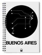 Buenos Aires Black Subway Map Spiral Notebook