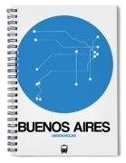 Buenos Aires Blue Subway Map Spiral Notebook