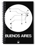Buenos Aires White Subway Map Spiral Notebook