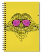 Buffalo In Pink Glasses Spiral Notebook