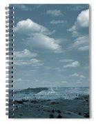 Burning Coal Vein Cloud Parade Spiral Notebook