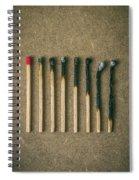 Burnt Matches Spiral Notebook