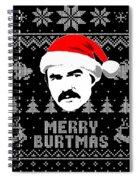 Burt Reynolds Christmas Shirt Spiral Notebook