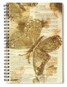 Butterfly Antiquities Spiral Notebook