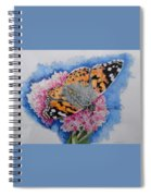 Butterfly At Lunch Spiral Notebook