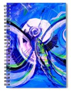 Butterfly Blue Violet Spiral Notebook