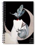 Butterfly Kiss French Art Deco Flapper Woman Spiral Notebook